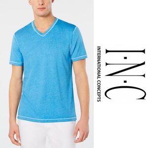 New! Men's INC Burnout V-Neck Tee Shirt M
